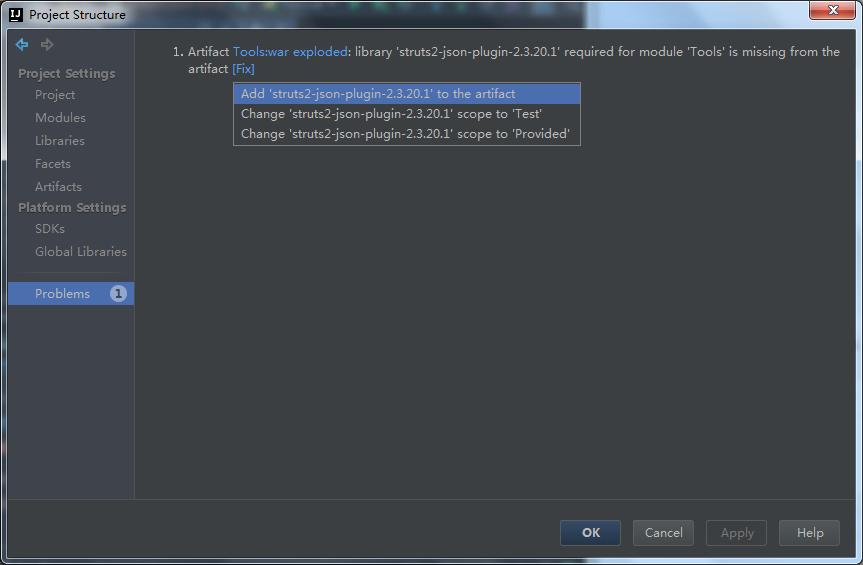 AddStruts2-json-plugin-2.3.20.1totheartifact