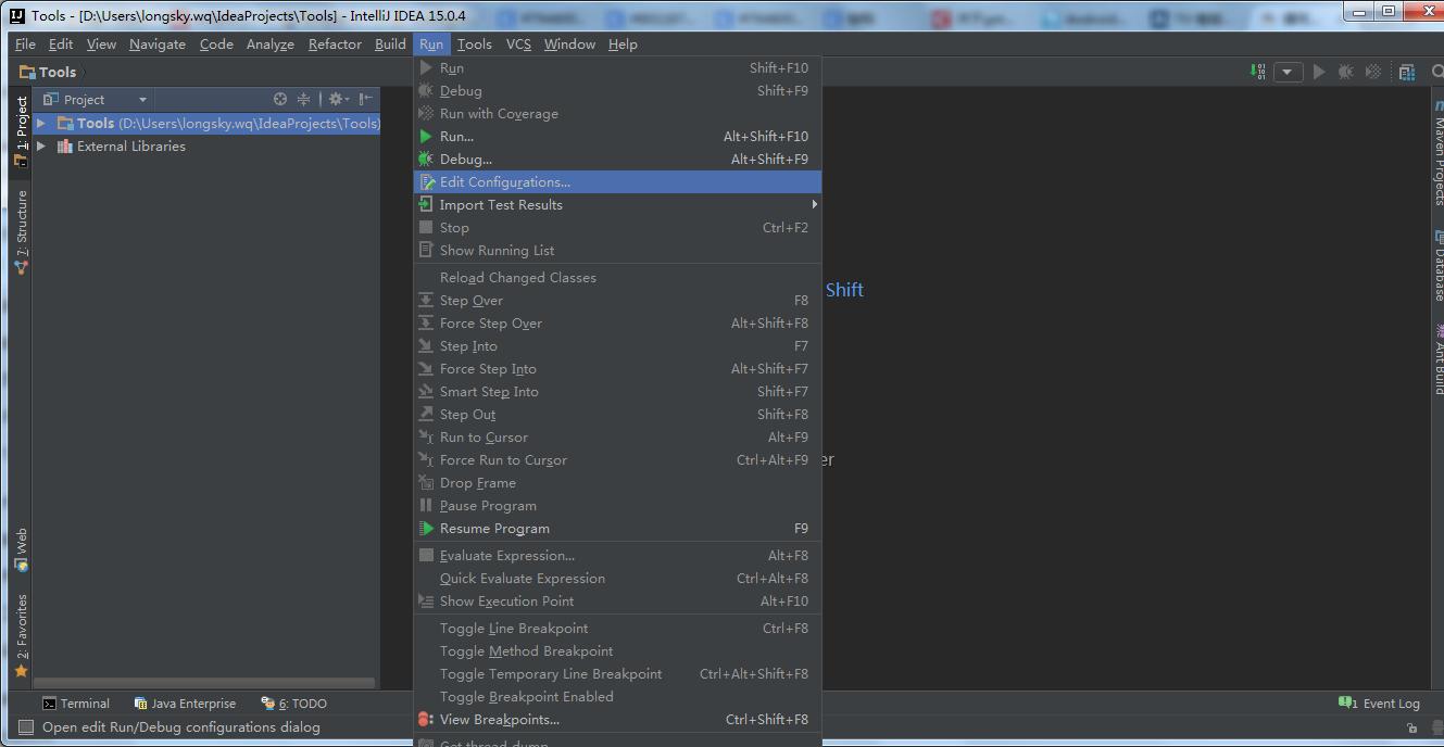 EditConfigurations