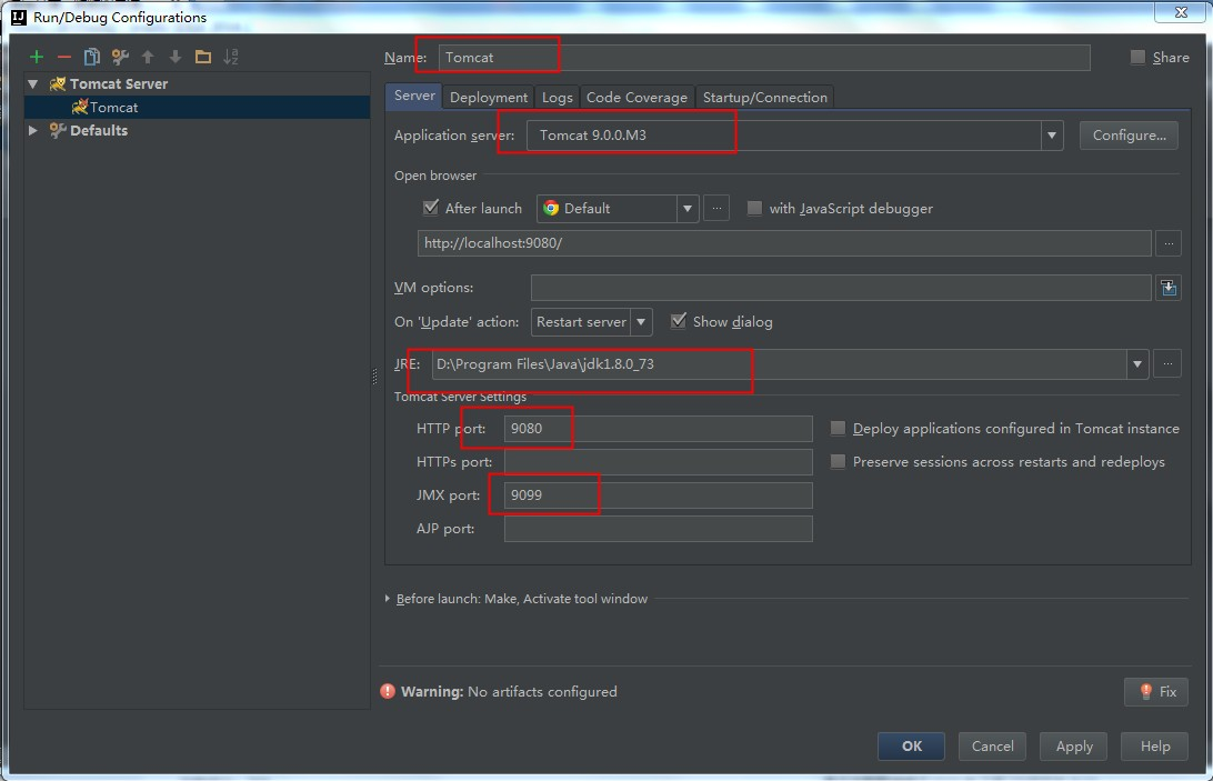 RunDebugConfigurationsTomcatServerLocalSettingsAfterConfigure