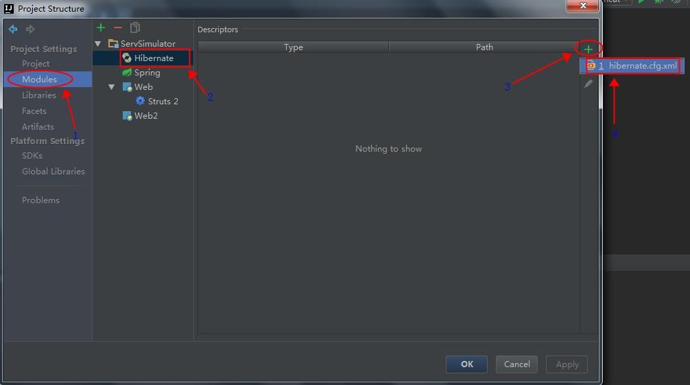 ProjectStructureForHibernateAddConfigureFile