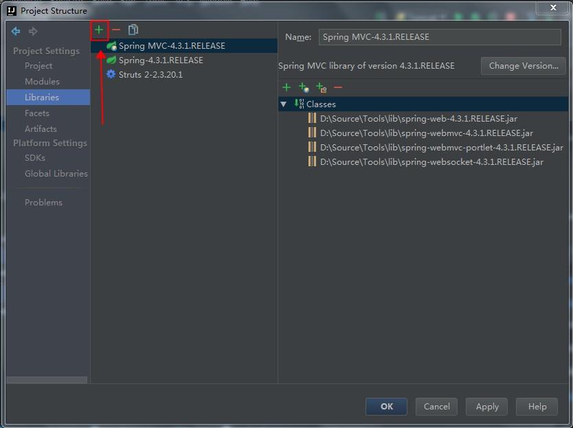 ToolWebSocketProjectStructureAddJars