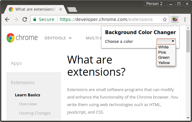 Getting Started: Building a Chrome Extension – 默默的点滴